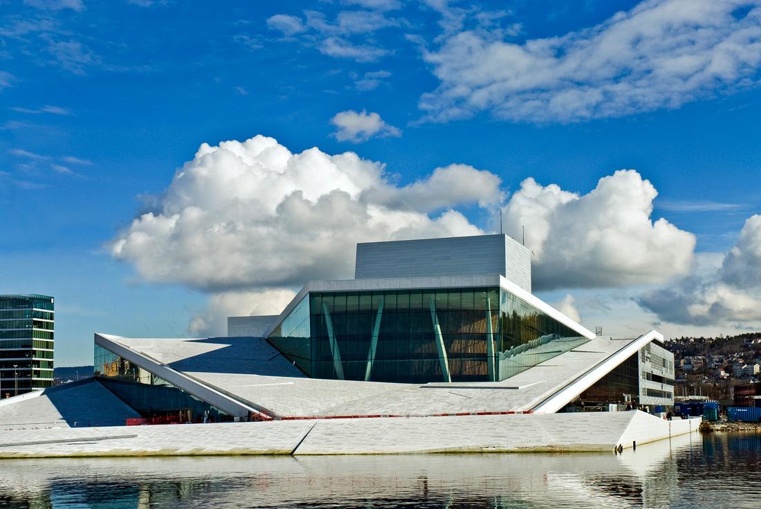 O moderno edifício da Opera House.